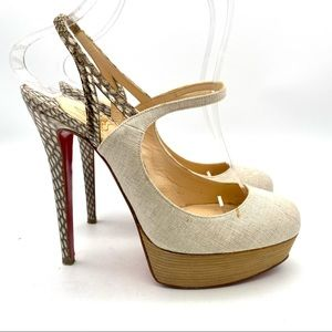 Authenticated Christian Louboutin  Bretelle Heels